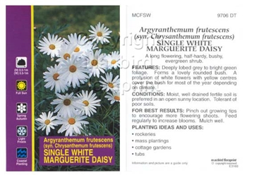 Picture of ARGYRANTHEMUM FRUTESCENS SINGLE WHITE