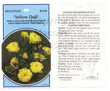Picture of ROSE MINI YELLOW DOLL