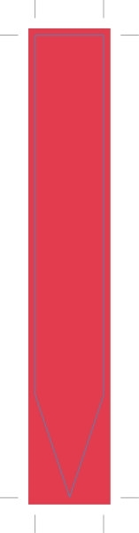 Picture of PLAIN RED INFO STIK - 135mm x 20mm