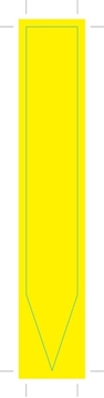 Picture of PLAIN YELO INFO STIK - 135mm x 20mm